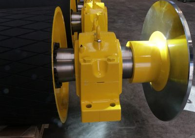 Tamburi per movimentazione sfusi con supporto e disco freno